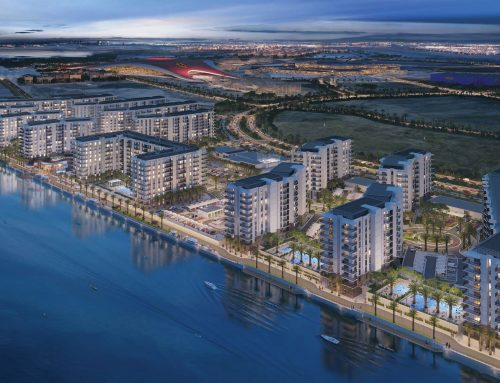 "Last building launched at "" Waters Edge"" on the waterfront at Yas Island"